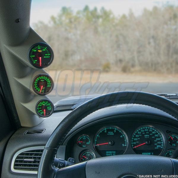 GlowShift Black Triple Gauge 52mm Pillar Pod for 2012-2016 Subaru BRZ