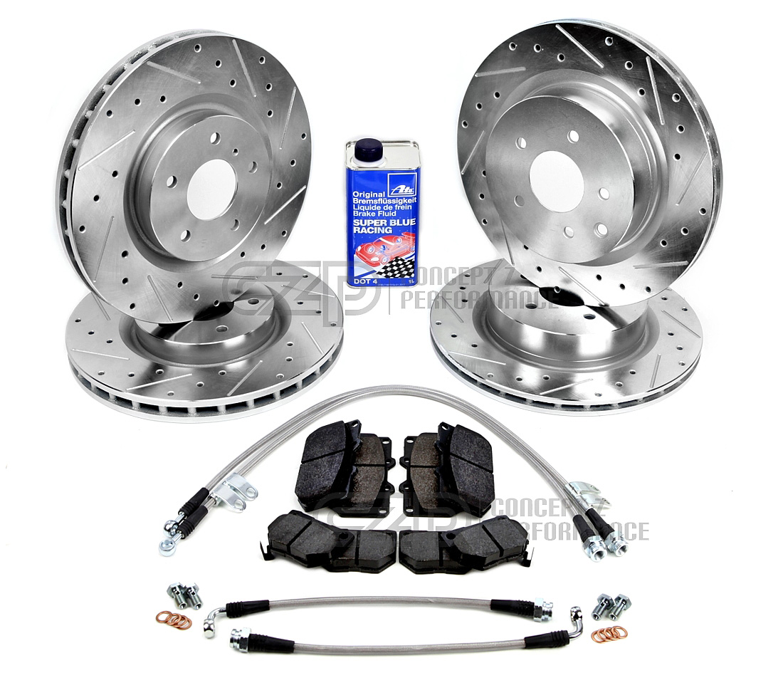 Czp brake upgrade performance kit sport model akebono nissan 370z 09 z34