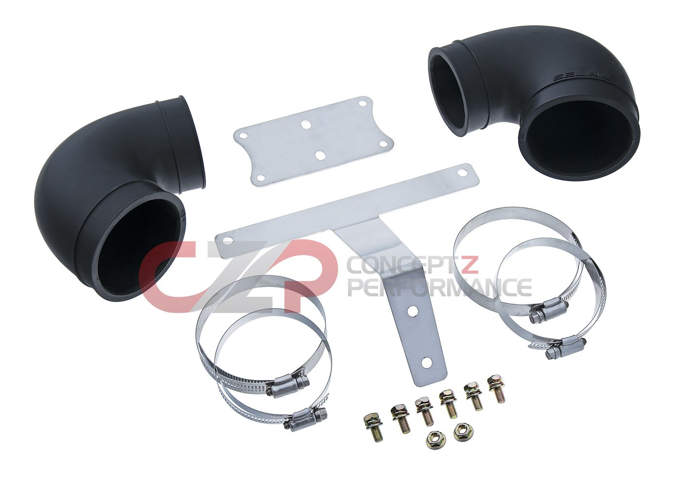 Selin Design Dual Intake Translator Santoprene Elbow Kit, 2nd Gen - Nissan 300ZX Z32