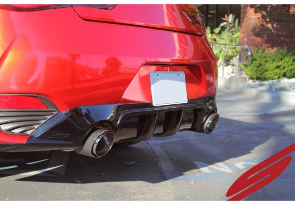 Stillen Stainless Steel Cat-Back Exhaust System w/ Carbon Tips - Infiniti Q60 17+ 3.0TT CV37 Red Sport
