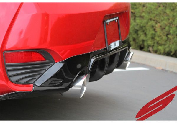 Stillen Stainless Steel Cat-Back Exhaust System w/ Polished Tips - Infiniti Q60 17+ 3.0TT CV37 Red Sport