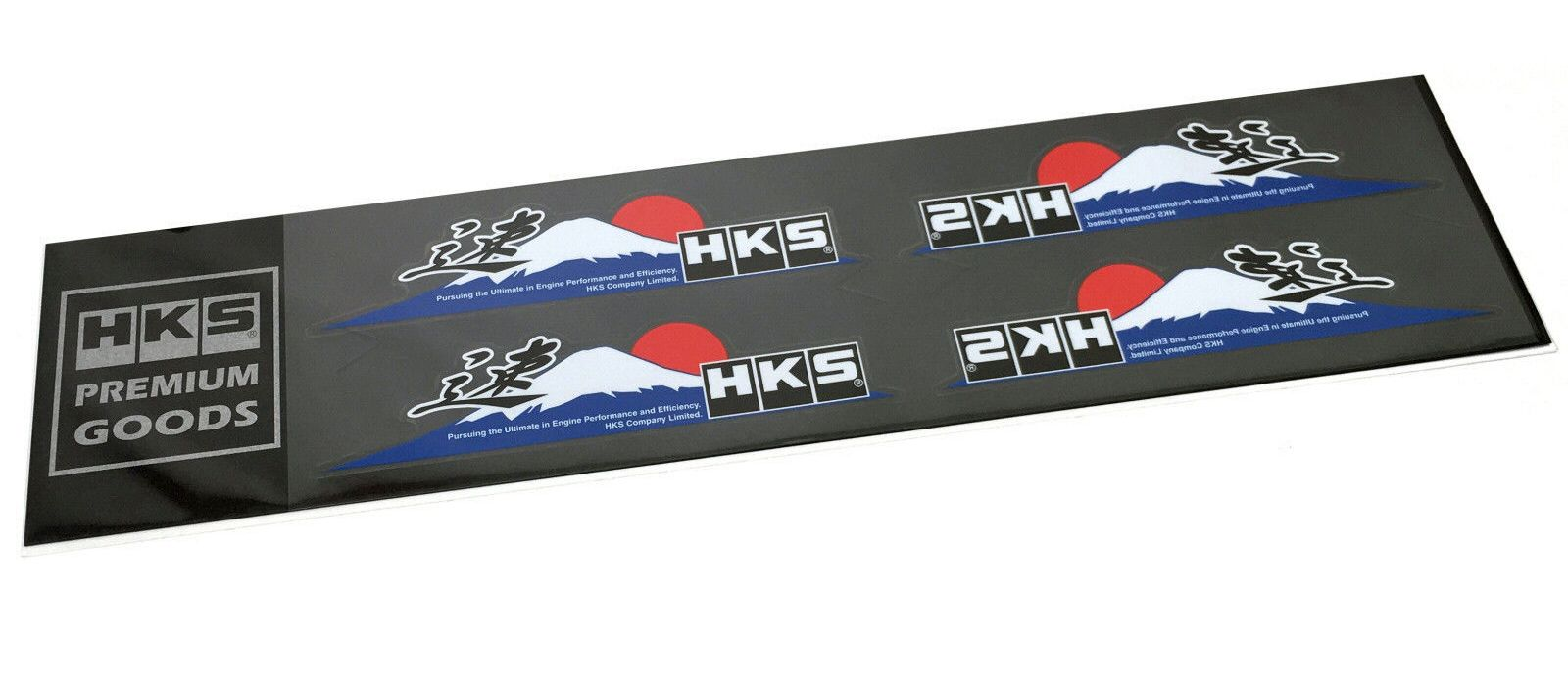 "HKS Mt. Fuji Soku Logo Sticker with ""速"" Letter 4 Pieces"