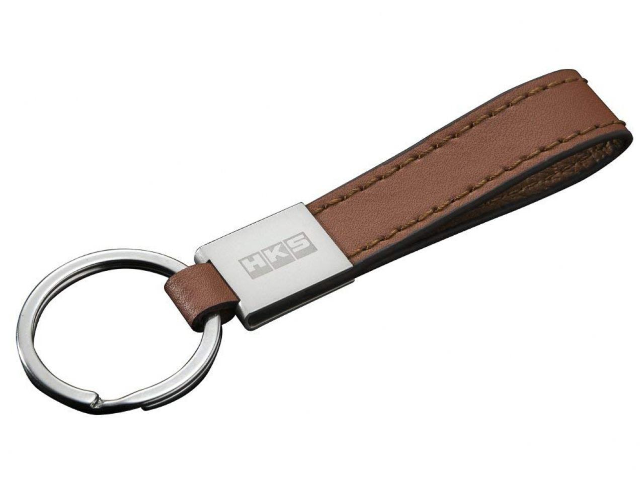 HKS LEATHER KEYRING CAMEL