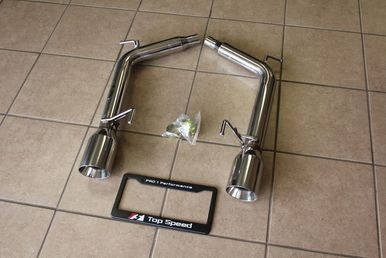 Top Speed Pro-1 Axle Back Exhaust System, Stainless Steel w/ Beveled Tips  - Infiniti G35 G37 & Q40 Sedan
