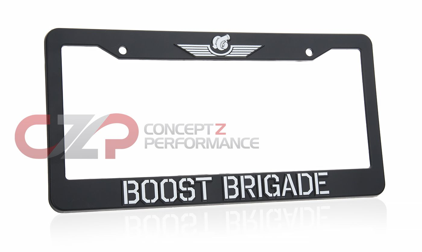 Boost Brigade License Plate Frame