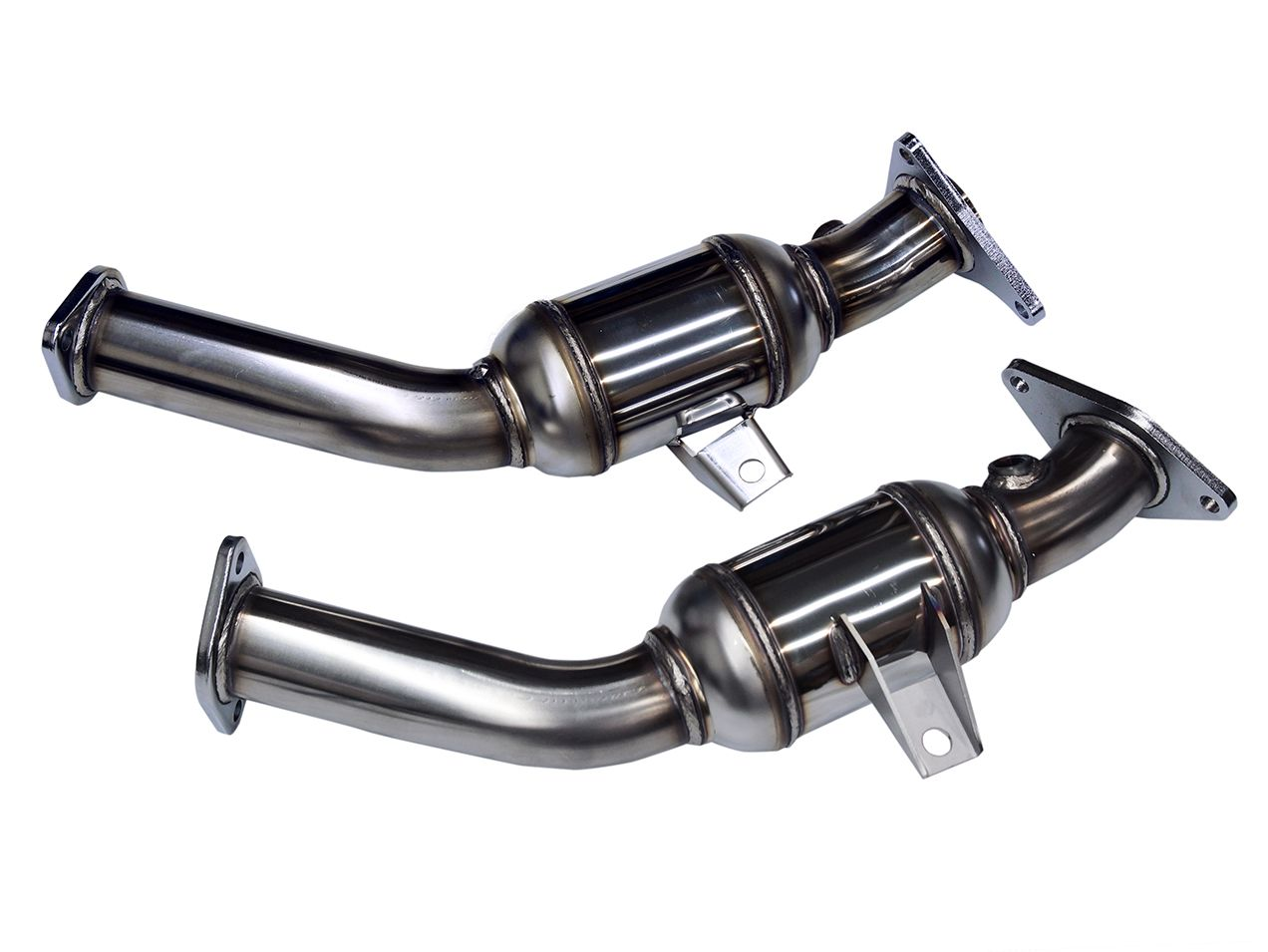 "HKS Stainless Steel Lower Downpipes, 2.5"" Resonated - Infiniti Q50 / Q60 3.0T VR30DDTT - 3 LEFT IN STOCK!!!"