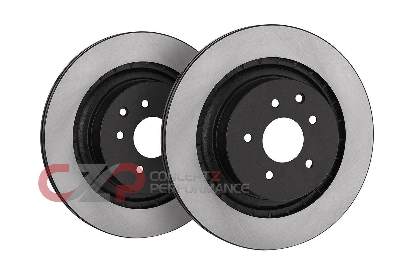 Fit Infiniti Nissan G35 350Z Front Rear Blank Brake Rotors+Ceramic Brake Pads