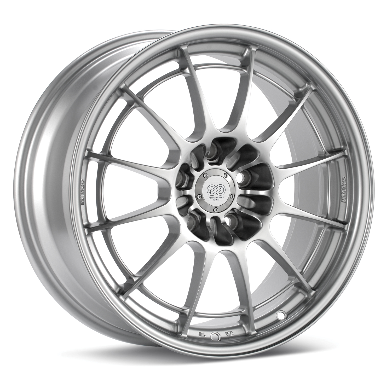 Enkei NT03+M Wheel, Silver Paint, 18x10.5, +30mm, 5x114.3, 72.6mm Bore - SET OF 4