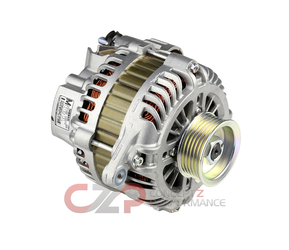 WPS High Output 220 Amp Alternator Assembly, VQ35HR VQ37VHR - Nissan 350Z 370Z / Infiniti G35 G37 Q40 Q50 Q60 Q70 M35 M37 FX35