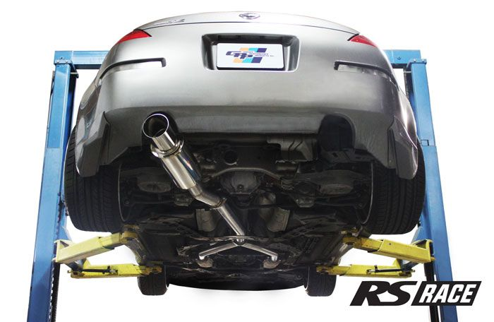 "Greddy GPP RS-Race Single Exit Y-Pipe Back Exhaust System, 4.5"" Tip - Nissan 350Z Z33"