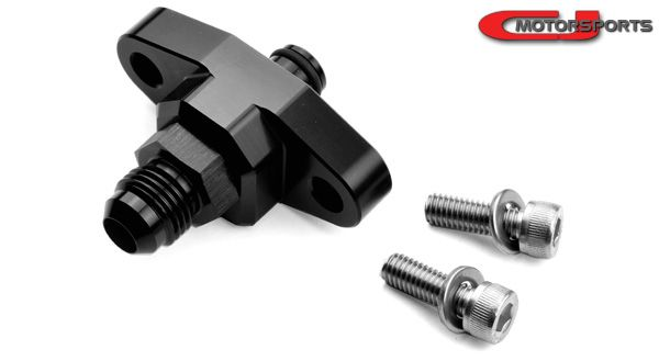 CJ Motorsports 6AN Adapter, 2-Bolt (Any Late 2003+ Nissan Models)