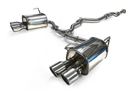 Invidia Q300 Single Layer SS Polish Tips Cat Back Exhaust - Subaru WRX / STI Sedan 15+