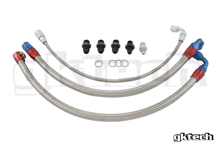 ISR S13 SR20DET Turbo Lines Top Mount IS-T25-NS13-EXT JDM Steel Braided Line