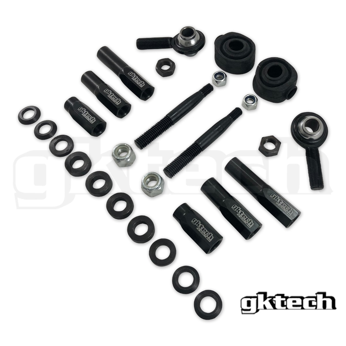 GKTech High Misalignment (64 Degrees) Outer Tie Rod Ends (12mm/14mm) - Nissan Skyline R32 R33 R34, 240SX S13 S14 S15
