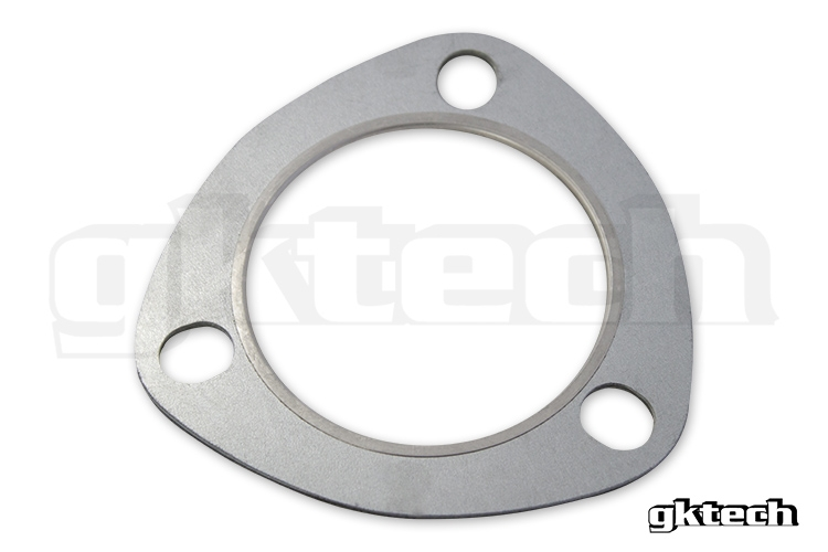 "GKTech 2.75"" 3 Bolt Multi Layer Stainless Steel Dump To Front Pipe Exhaust Gasket"