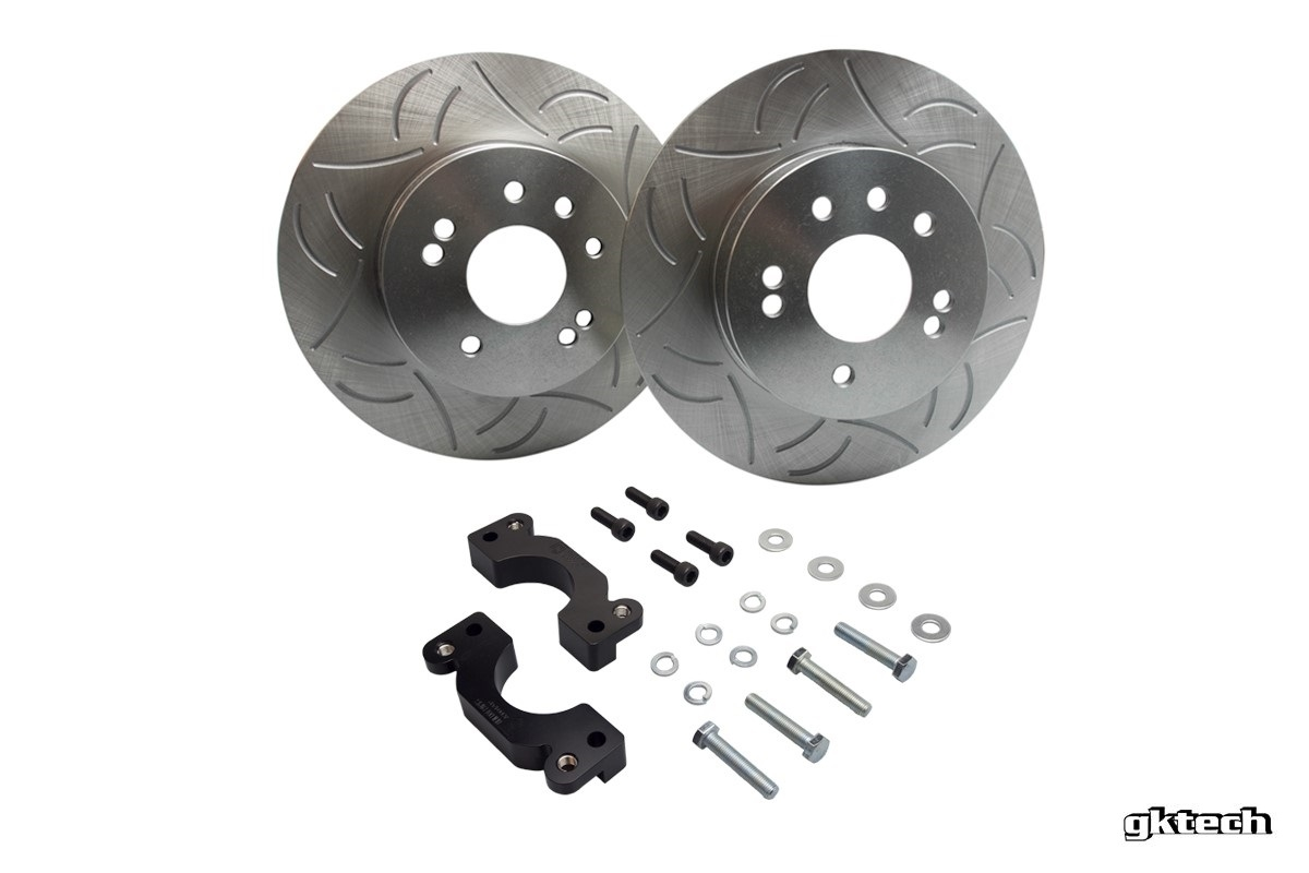 GKTech 300mm BBK Rear Rotor Upgrade Kit - Nissan 240SX S13, S14, S15  300MMRBBK - Concept Z Performance