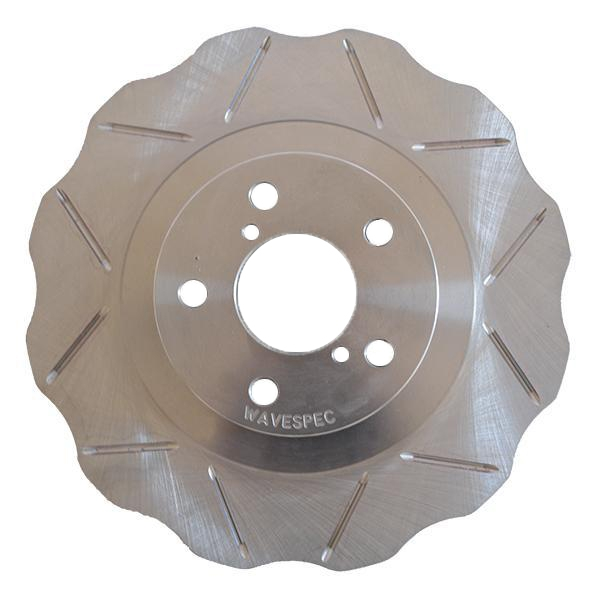 WaveSpec Direct Replacement Rotor, Front Slotted, 4-Lug - Nissan 240SX S13, 95-06/96 Early Style S14