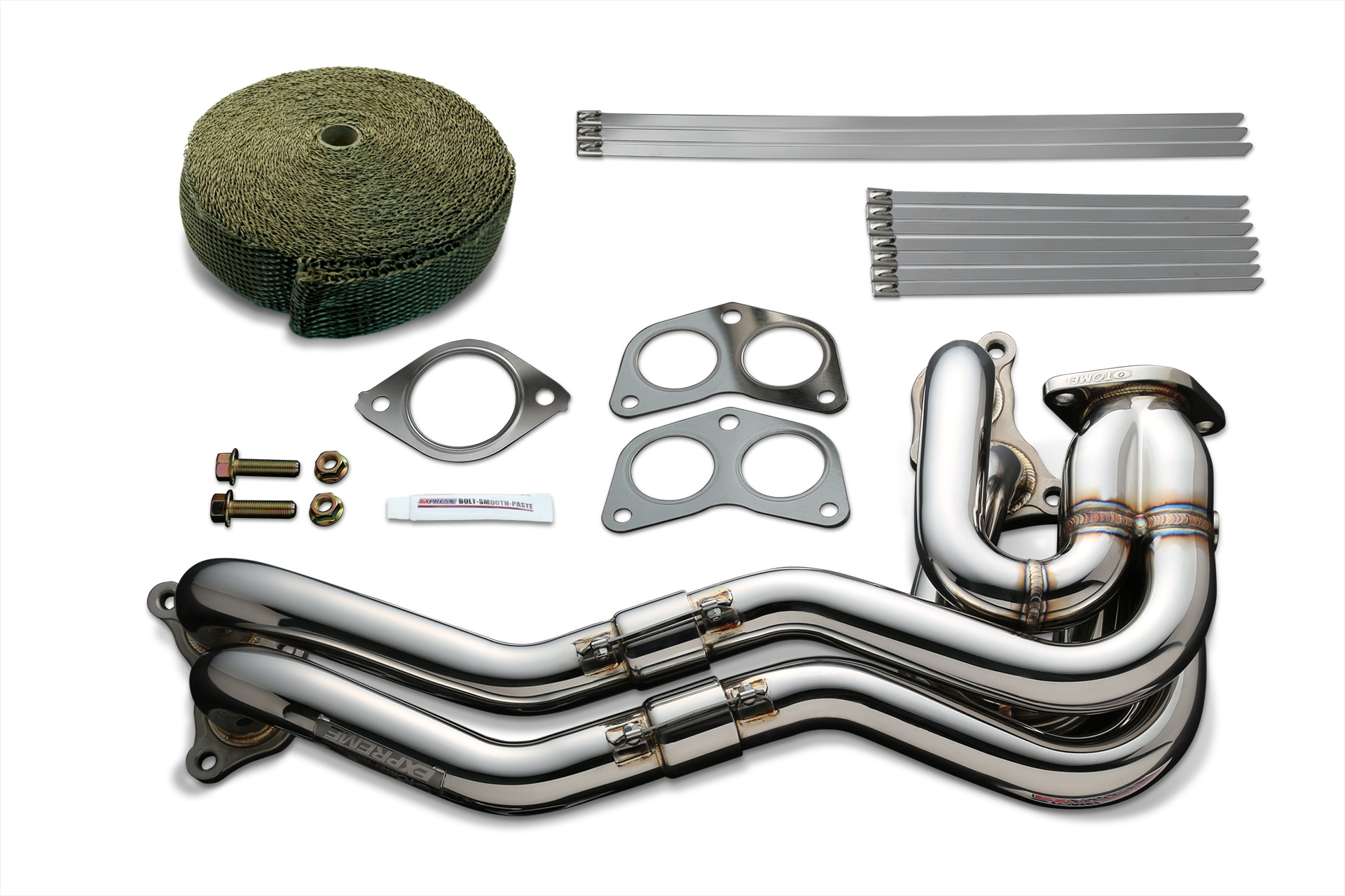 Tomei Exhaust Manifold Kit Expreme FA20 ZN6/ZC6 Unequal Length with Titan Exhaust Bandage - Subaru BRZ / Scion FR-S / Toyota 86