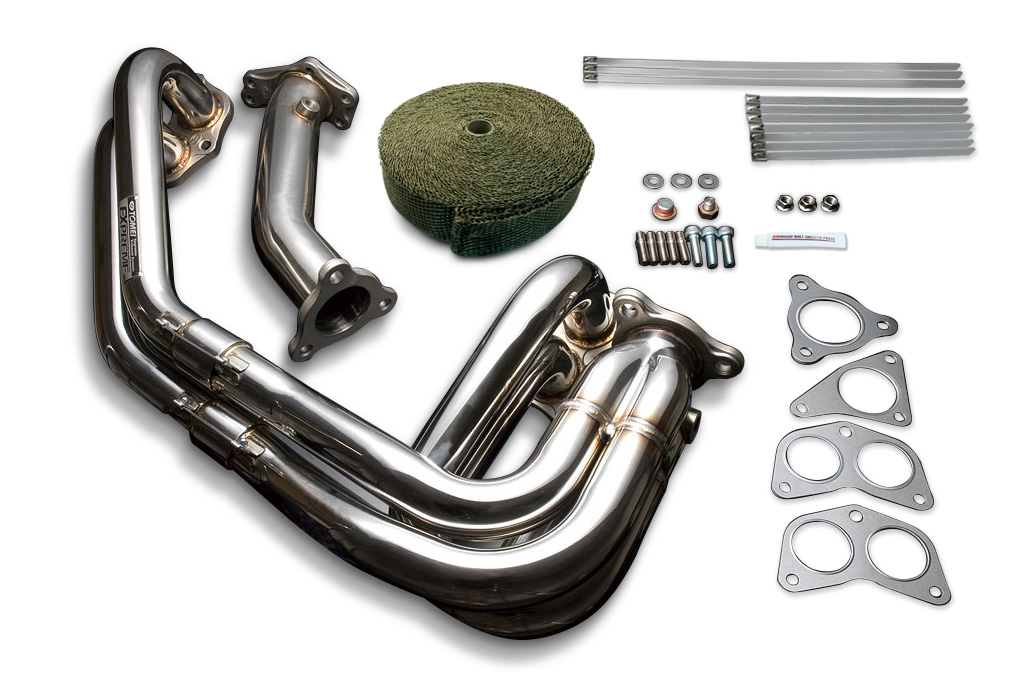 Tomei Exhaust Manifold Kit Expreme EJ Single Scroll WRX/STI Unequal Length with Titan Exhaust Bandage