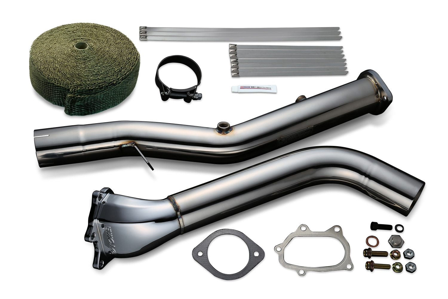 Tomei Straight Down Pipe Kit Expreme EJ Single Scroll GR/GV/GE/GH/VA Ver.2 with Titan Exhaust Bandage