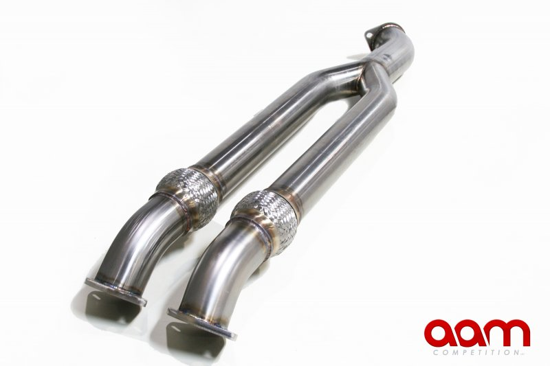"AAM Competition 3""-3.5"" Mid-Pipe Non-Resonated - Nissan GT-R 09+ R35"