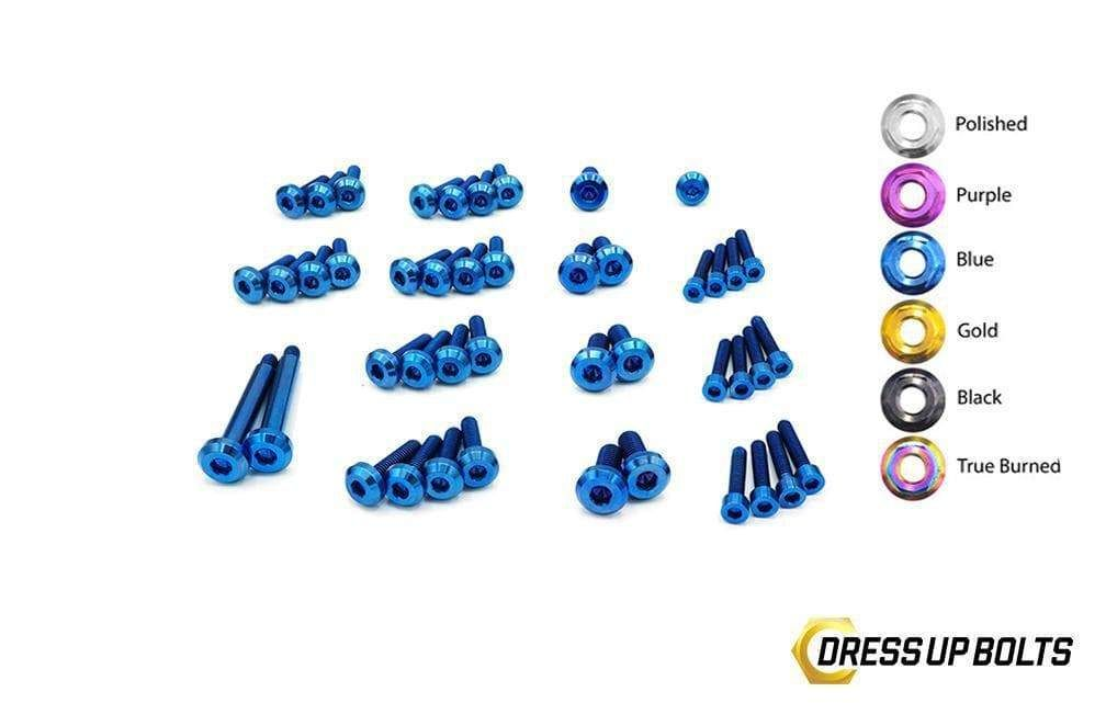 Dress Up Bolts NIS-053-TI Titanium Dress Up Kit, RB25 Engine Kit w/o Coil Pack Cover - Nissan Skyline R33, R34