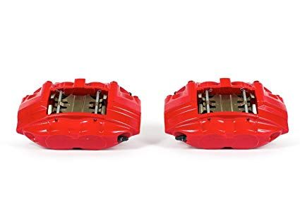 CZP Powder Coated Remanufactured Akebono Sport Calipers, Front & Rear, Red - Nissan 370Z / Infiniti G37