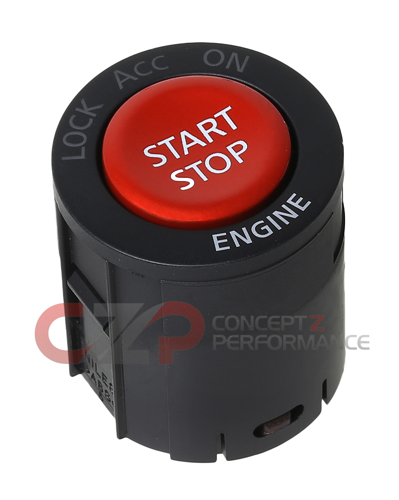 Nissan OEM Red GT-R Push Button Start Switch Assembly - Fits Nissan 370Z GT-R / G35 G37 Q40 Q60