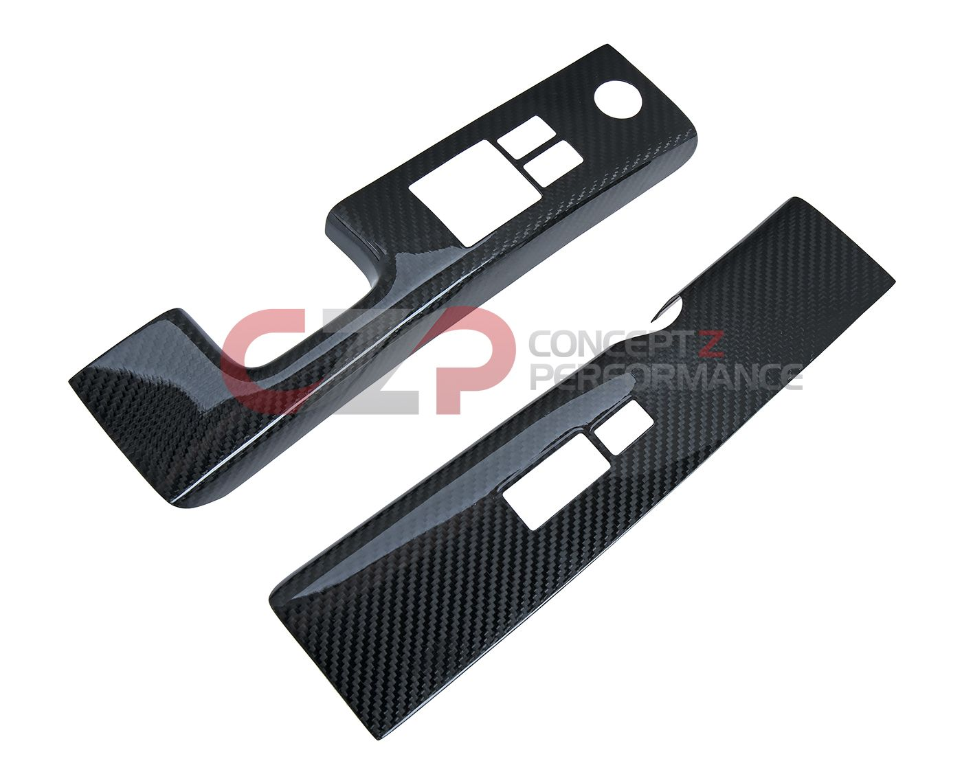 EVO-R Carbon Fiber Interior Door Window Switch Finisher Covers - Nissan 350Z Z33