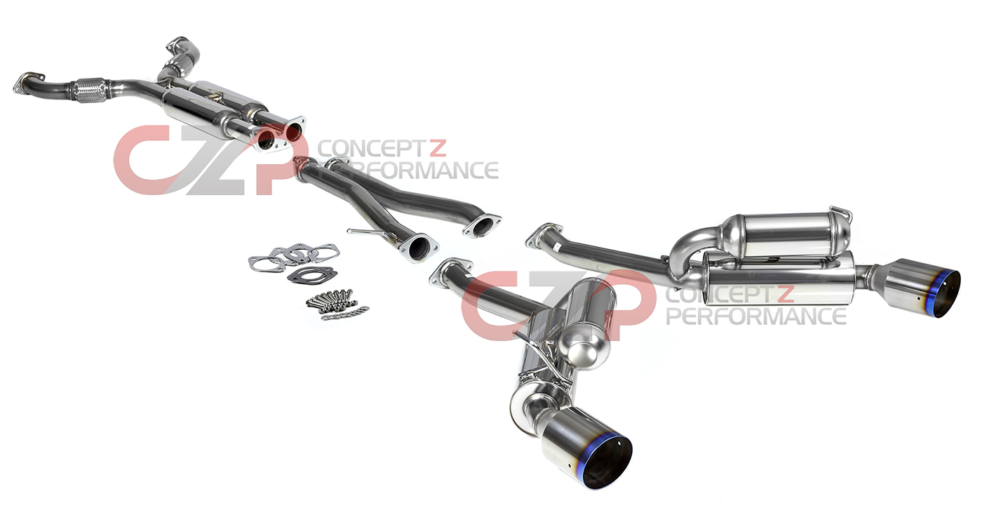 HKS 32009-BN003 Hi-Power Stainless Steel Catback Exhaust System, Titanium Tip - Infiniti 08-13 G37 & 14-15 Q60 Coupe RWD CV36