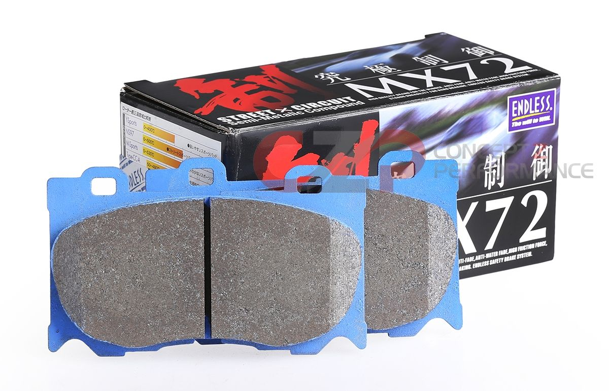 Endless MX72 Brake Pads, Front w/ Brembo Calipers - Nissan 350Z / Infiniti G35