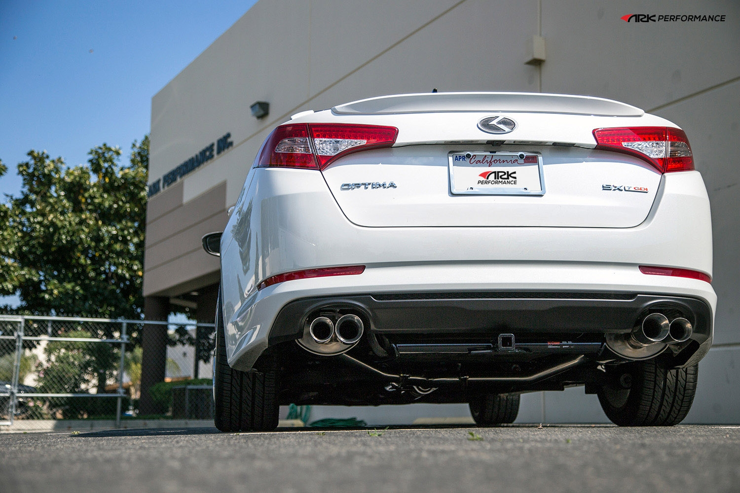 Ark Performance Stainless Steel DT-S Cat-Back Exhaust System 2.25 to 2.5in Pipe w/ 3.5 / 2.5 Polished Dual Tip, Dual Exit - Kia Optima / K5 11-13 2.0T, 2.4L I4