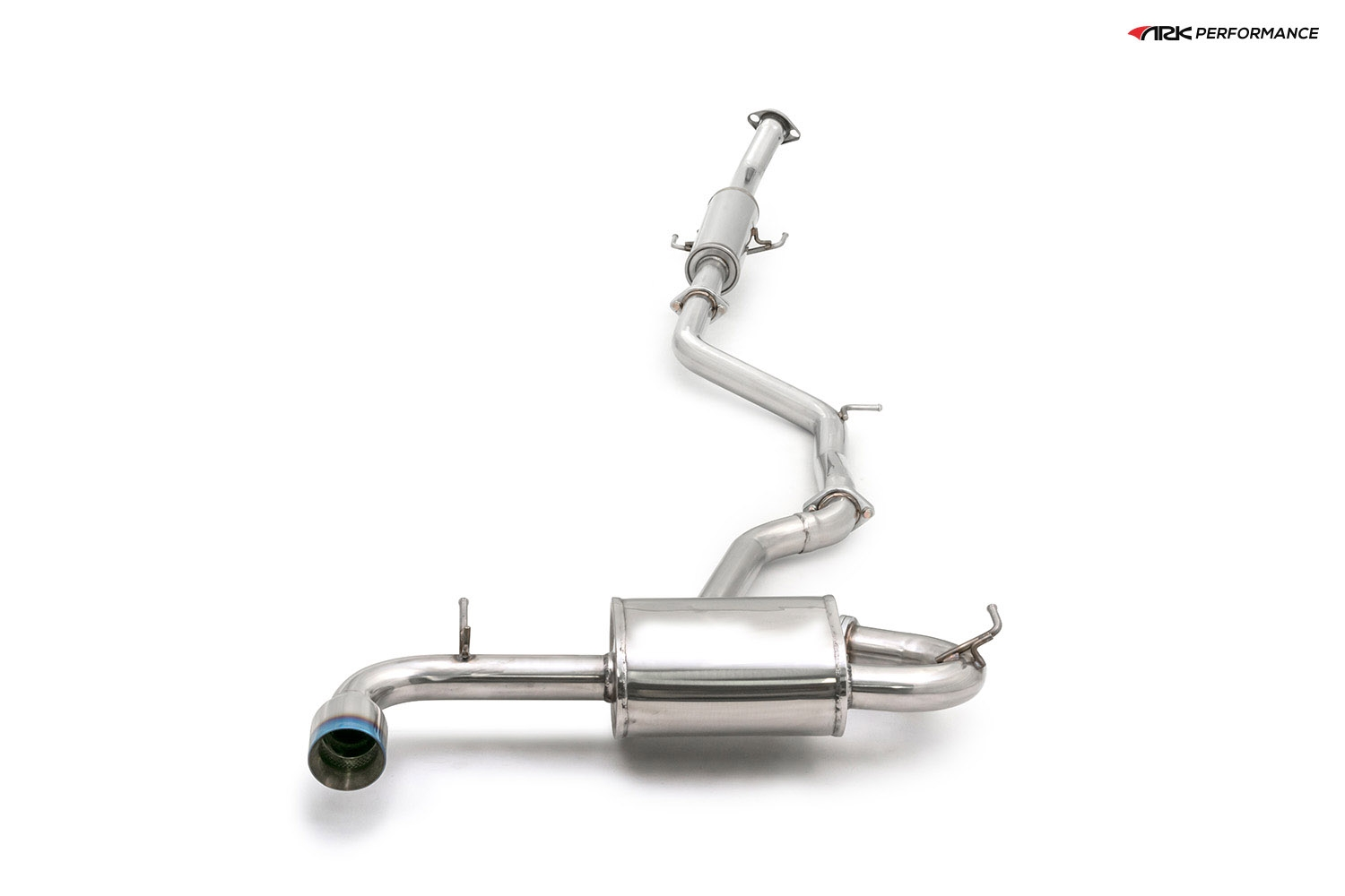 Ark Performance Stainless Steel DT-S Cat-Back Exhaust System 2.5in Pipe w/ 4.0 Burnt Single Tip, Single Exit - Scion tC 10-13 2.5L I4 AGT20L
