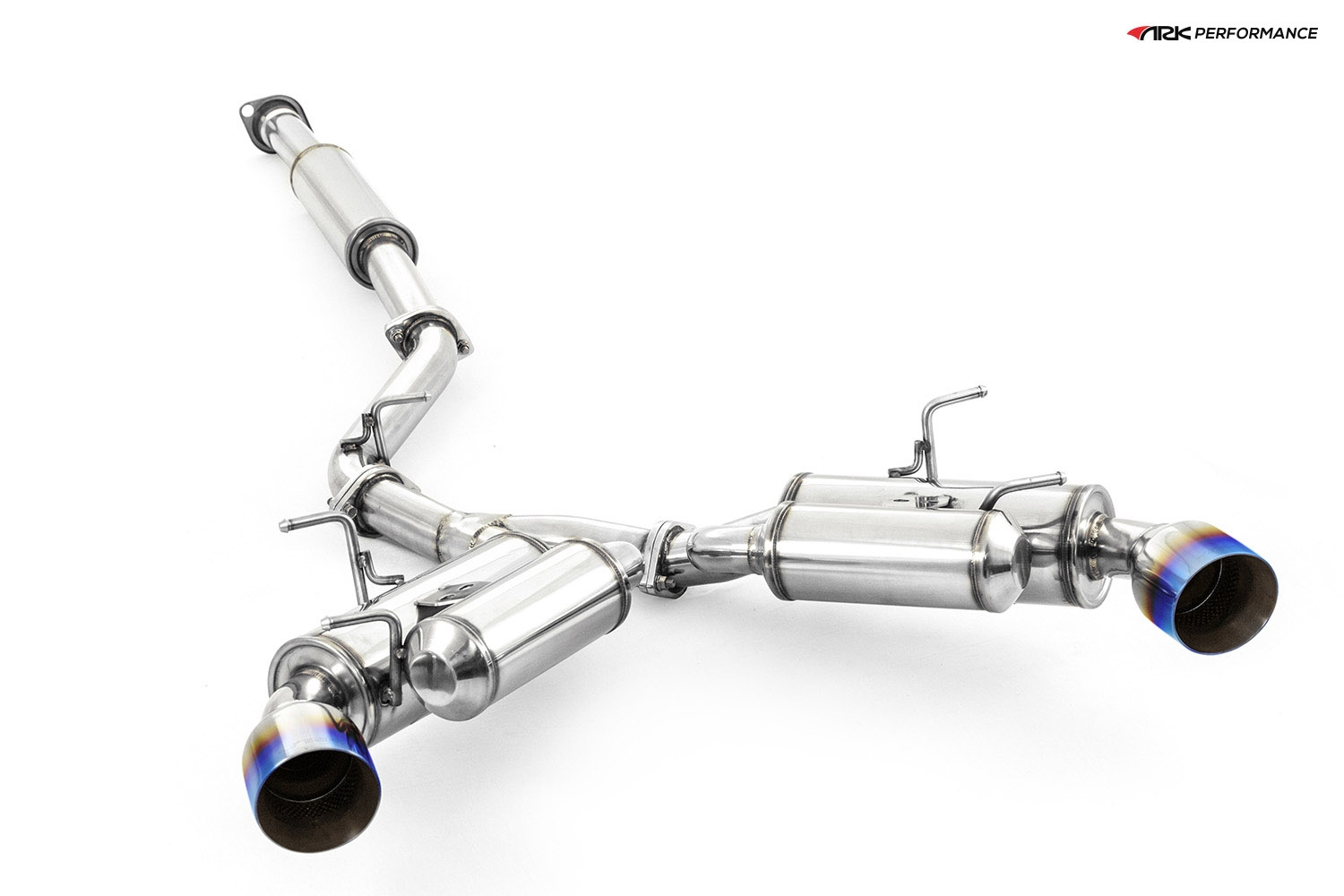 Ark Performance Stainless Steel GRiP Cat-Back Exhaust System 2.5in Pipe w/ 4.5 Burnt Single Tip, Dual Exit - Toyota GT86 13+ 2.0L H4 ZN6