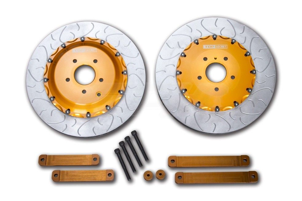 Top Secret  2-Piece 400mm Front Rotors w/ Hardware & Hats - Nissan GT-R 09-11 R35