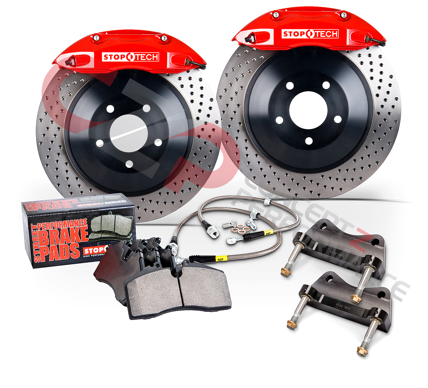 "Stoptech ST-41 14"" 355mm Big Brake Kit, Rear 4-Piston - Nissan 300ZX Z32"