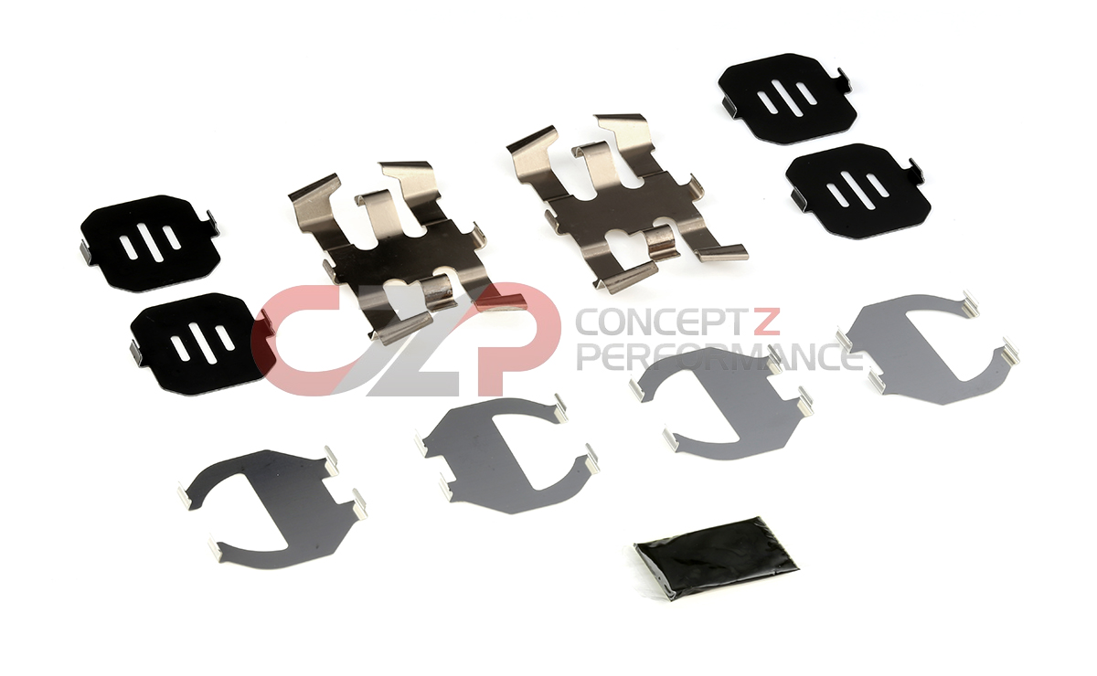 Nissan OEM 370Z Caliper Brake Pad Hardware Shim Kit, Rear Akebono Sport Z34
