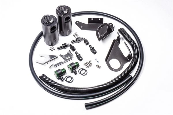 Radium Engineering Dual Catch Can Kit - Nissan 370Z Z34