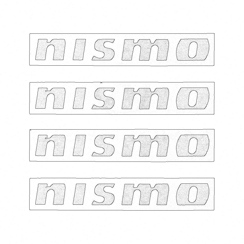 Nissan OEM Nismo Wheel Decal Set 99992-RN805 - Nissan Skyline R32 R33 GT-R