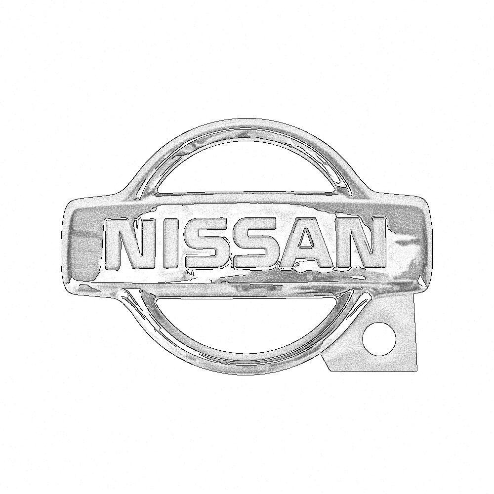 Nissan OEM Trunk Emblem, Early - Nissan Skyline R34 GT-R GTT