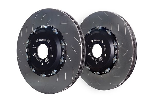 EBC Racing 2-Piece Replacement Front Rotors w/ Hardware & Hats 390mm x 34mm - Nissan GT-R 12+ R35
