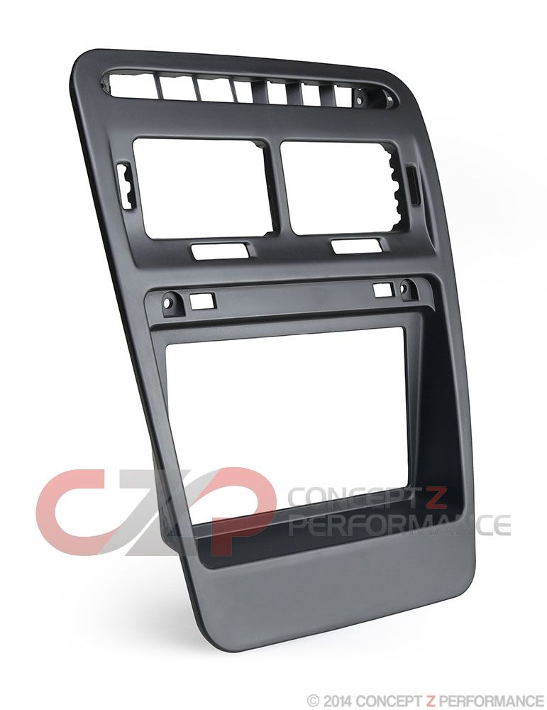 Interior Innovations Double DIN Radio Bezel Finisher, LHD w/ Clock Delete - Nissan 300ZX Z32