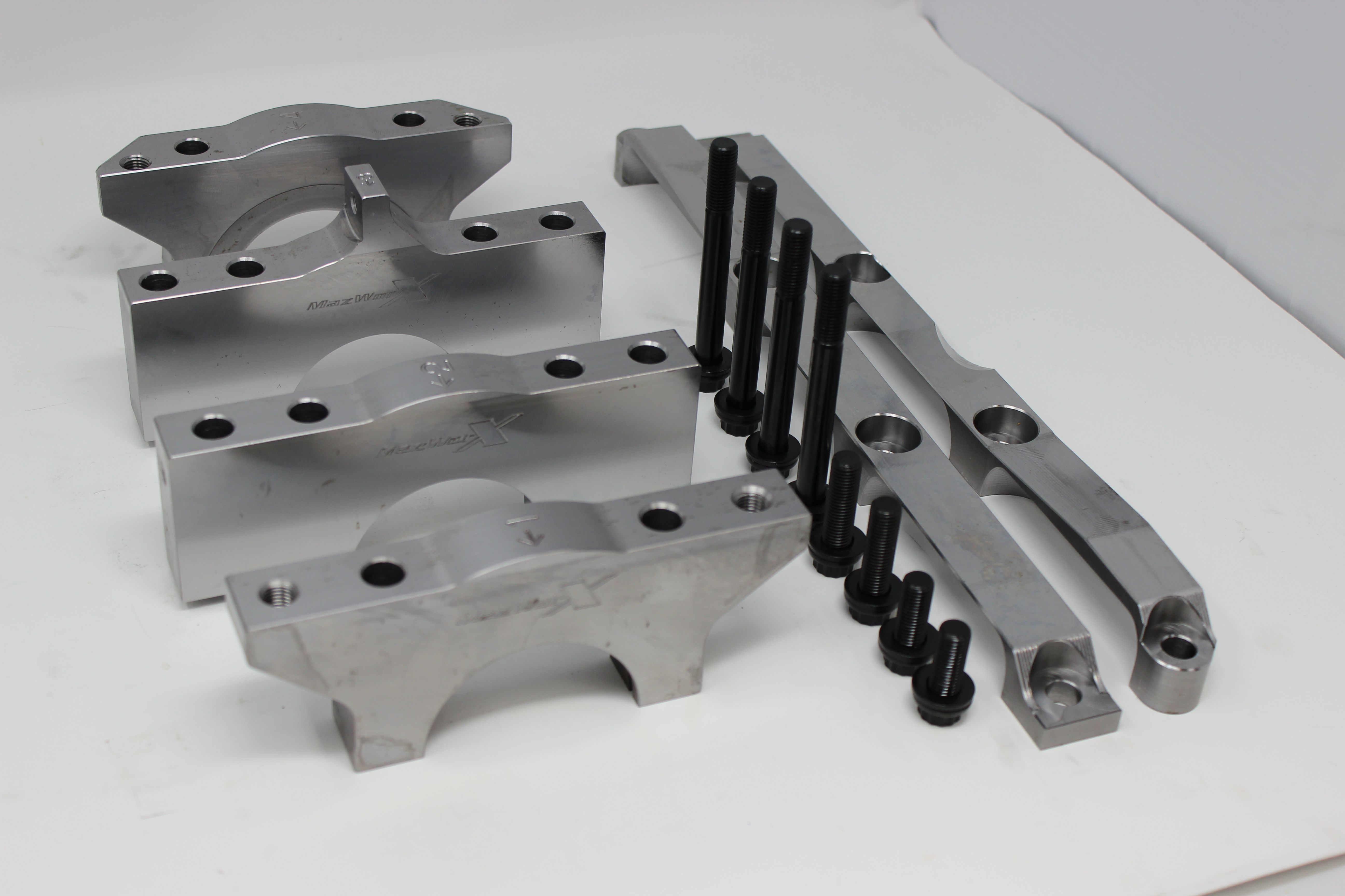 Mazworx 4 Bolt Billet Main Caps W/ Girdle - Nissan 300ZX VG30DETT