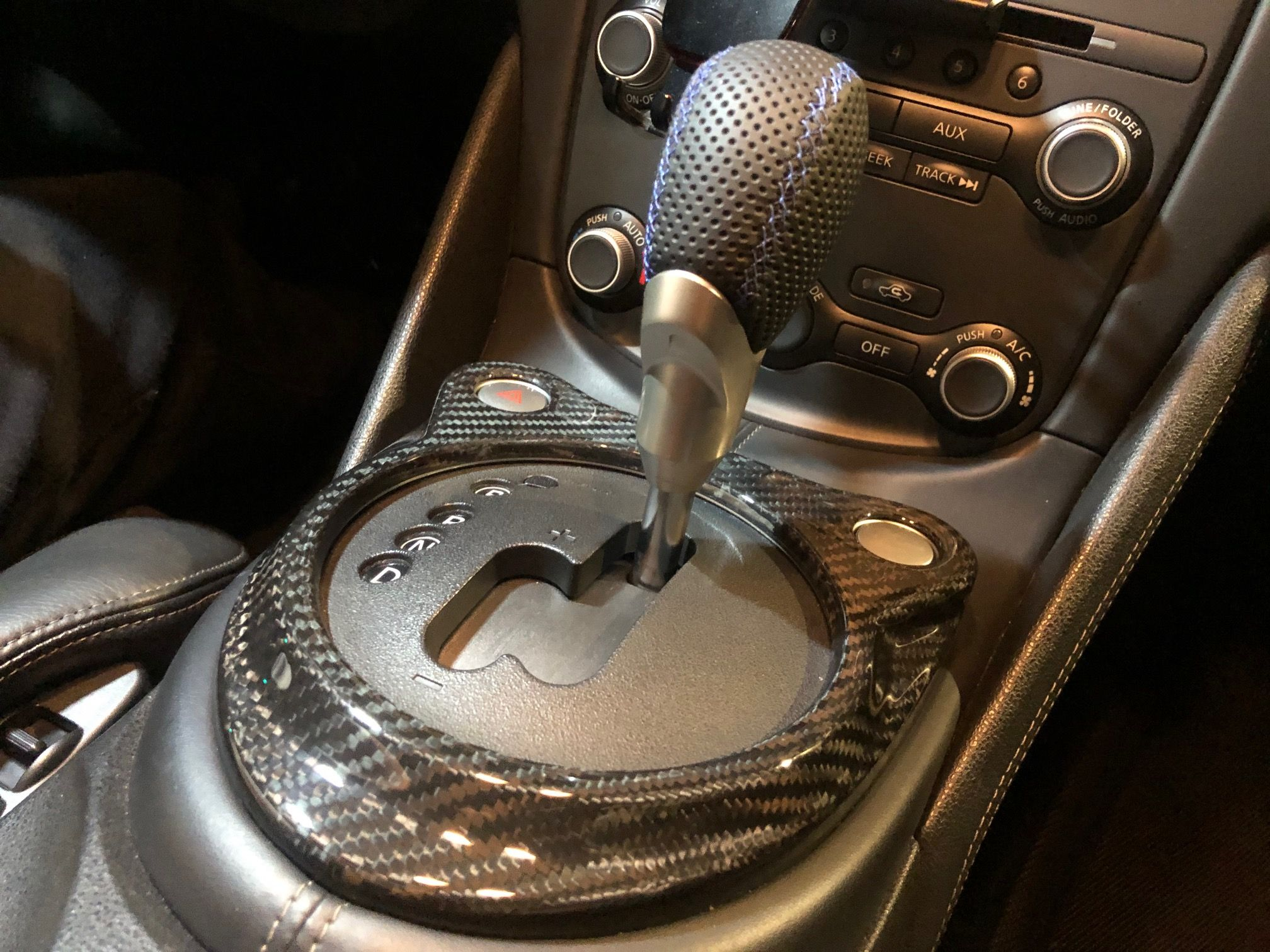 EVO-R Carbon Fiber AT Shift Cover - Nissan 370Z
