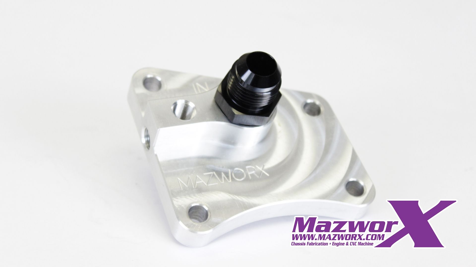 Mazworx Billet Single Port Oil Block Adapter - Nissan SR20DET RWD