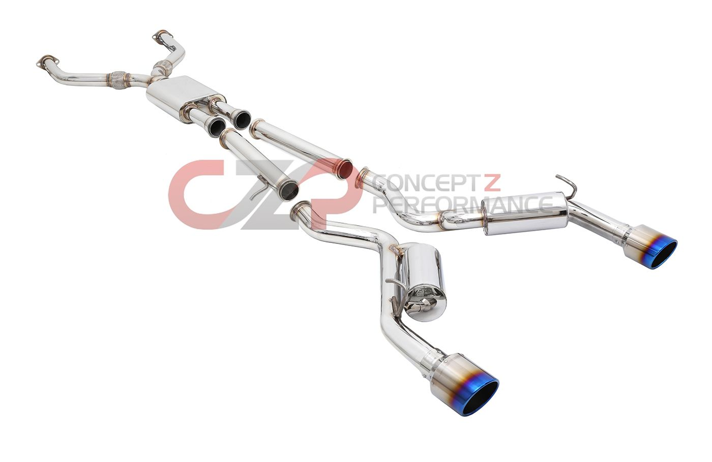 "Motordyne Shockwave TDX2 Catback Exhaust System, 2.5"" or 3"" - Infiniti Q60 Coupe RWD & AWD"