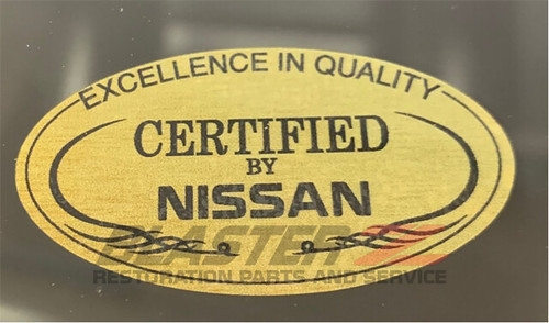 "Blaster Z 300ZX ""Certified By Nissan"" Quarter Glass Decal"