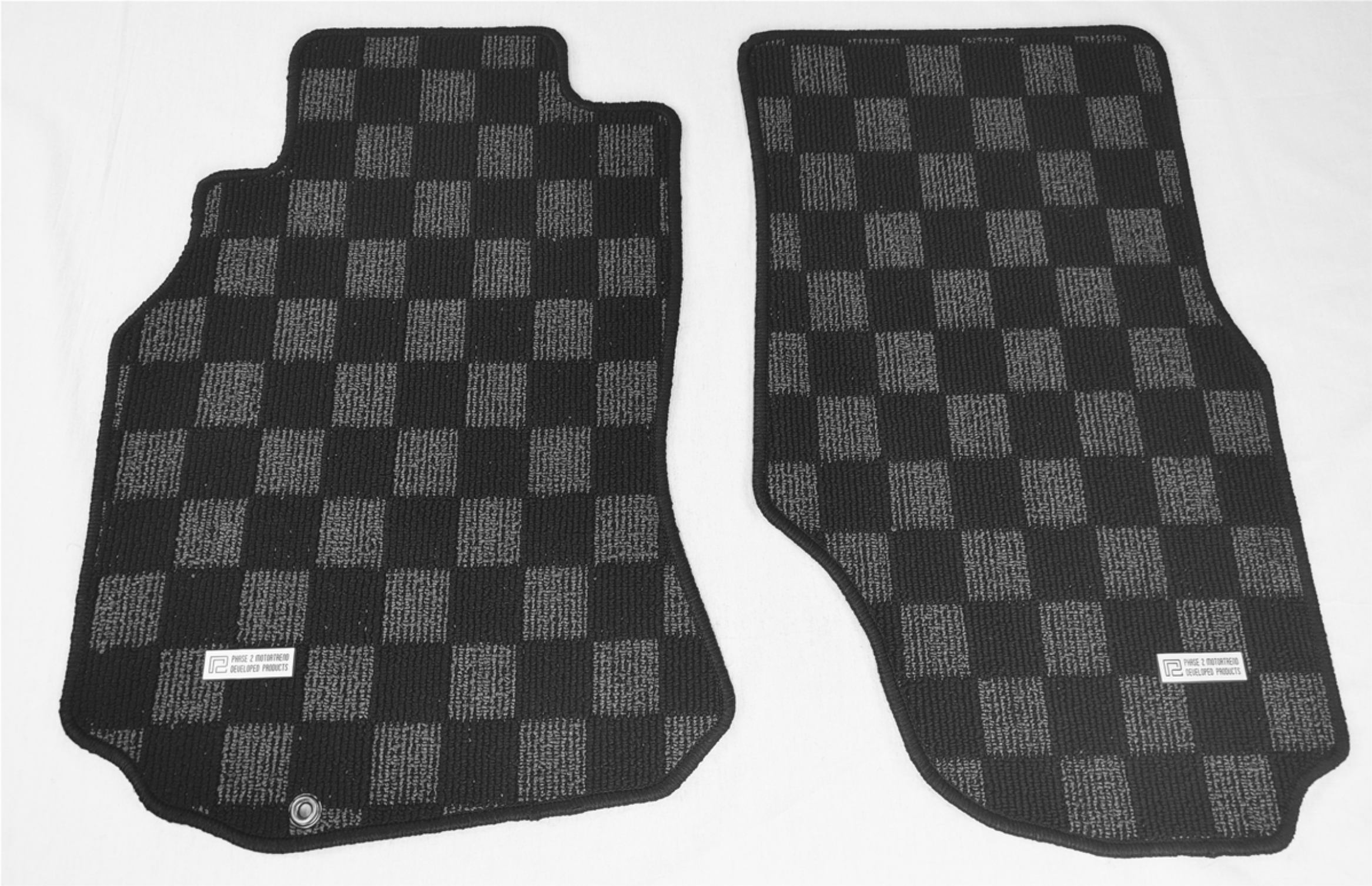 P2M Checkerboard Carpet Set, Race Floor Mats - Infiniti G35 Coupe/Sedan V35
