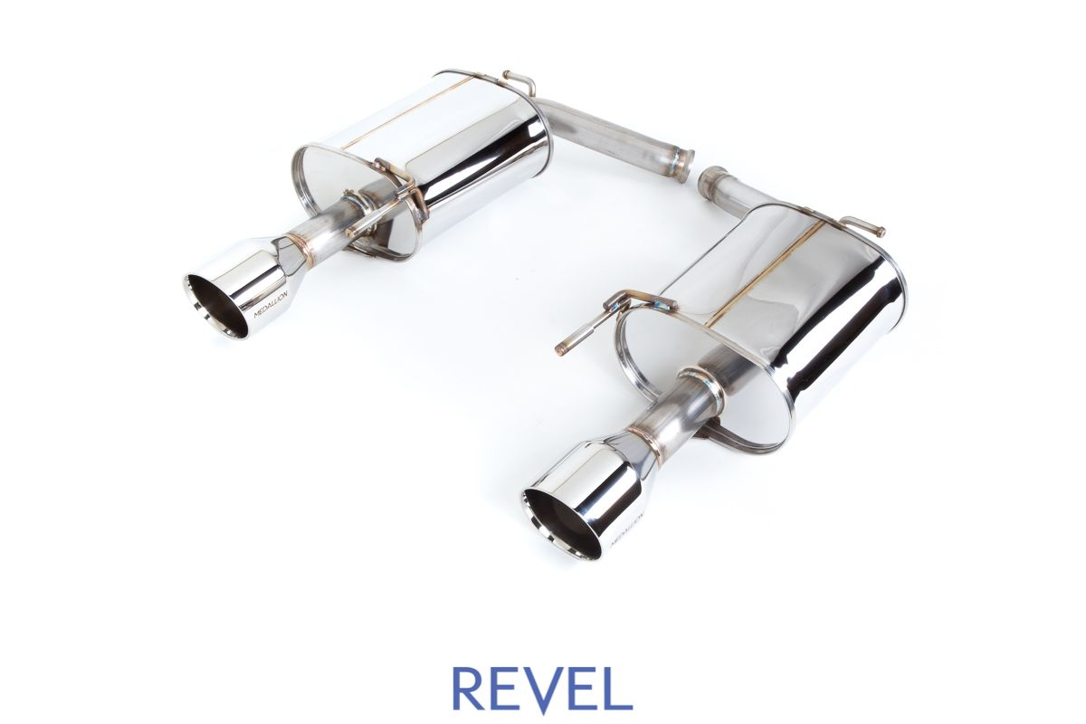Revel Medallion Touring Dual Muffler Axle Back Exhaust - Infiniti G25, G35, G37, Q40 Sedan RWD & AWD V36