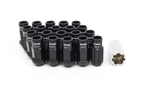 Work RS-R Type Aluminum Locking Lug Nut Set, 12x1.25 Open Ended